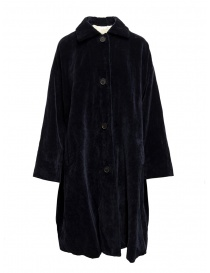 Casey Casey coat in dark blue velvet online