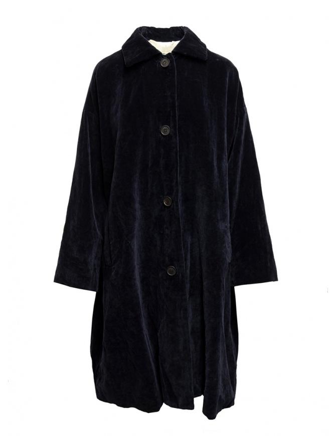Cappotto Casey Casey in velluto blu scuro 13FM75 NAVY cappotti donna online shopping