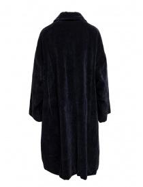 Cappotto Casey Casey in velluto blu scuro