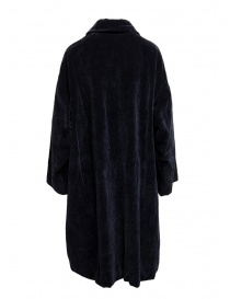 Casey Casey coat in dark blue velvet
