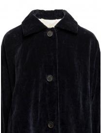 Cappotto Casey Casey in velluto blu scuro prezzo