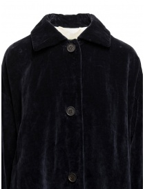 Casey Casey coat in dark blue velvet price