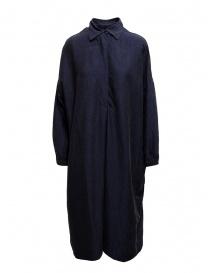 Abiti donna online: Abito camicia Casey Casey in seta blu navy