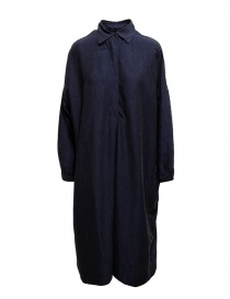 Abito camicia Casey Casey in seta blu navy 13FR283 DARK NAVY