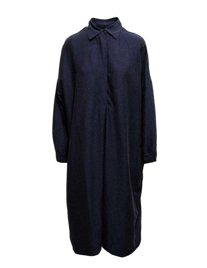 Casey Casey shirt dress in navy blue silk 13FR283 DARK NAVY womens dresses online shopping