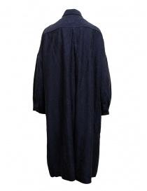 Abito camicia Casey Casey in seta blu navy