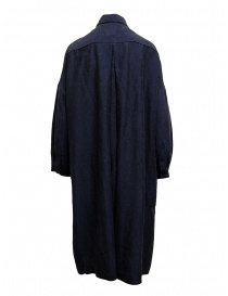 Casey Casey shirt dress in navy blue silk