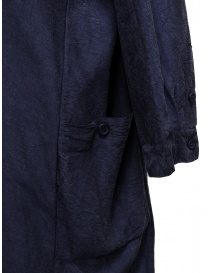 Casey Casey shirt dress in navy blue silk price