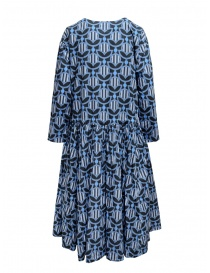 Casey Casey dress in blue geometric light blue flower print