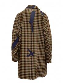 Cappotto Kolor beige a quadri e patchwork blu prezzo