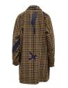 Cappotto Kolor beige a quadri e patchwork blu 19WCL-C05103 BEIGE MIX CHECK prezzo