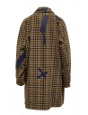 Kolor beige checkered blue patchwork coat 19WCL-C05103 BEIGE MIX CHECK price