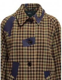 Kolor beige checkered blue patchwork coat womens coats buy online