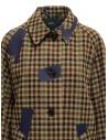 Kolor beige checkered blue patchwork coat 19WCL-C05103 BEIGE MIX CHECK buy online