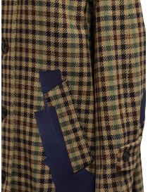 Kolor beige checkered blue patchwork coat womens coats price