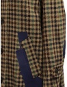 Kolor beige checkered blue patchwork coat price 19WCL-C05103 BEIGE MIX CHECK shop online