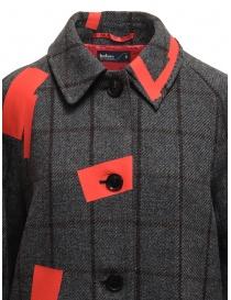 Cappotto Kolor grigio a quadri toppe rosse cappotti donna acquista online