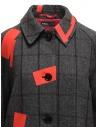Cappotto Kolor grigio a quadri toppe rosse 19WCL-C05103 GRAY CHECK acquista online
