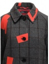 Kolor grey check and red patchwork coat 19WCL-C05103 GRAY CHECK buy online