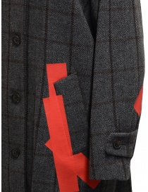 Kolor grey check and red patchwork coat womens coats price