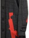 Cappotto Kolor grigio a quadri toppe rosse prezzo 19WCL-C05103 GRAY CHECKshop online