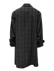 Kolor grey checkered coat with golden stripes price