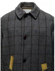 Cappotto Kolor grigio a quadri con bande dorate cappotti uomo acquista online