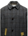 Kolor grey checkered coat with golden stripes 19WCM-C03103 GRAY CHECK buy online