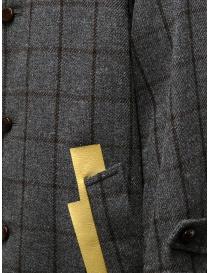 Cappotto Kolor grigio a quadri con bande dorate cappotti uomo prezzo