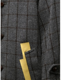 Kolor grey checkered coat with golden stripes mens coats price