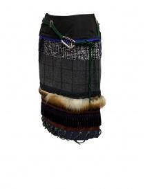 Kolor patchwork midi skirt with fur and carabiner price