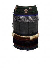 Longuette Kolor a patchwork con pelliccia e moschettone gonne donna acquista online