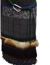 Longuette Kolor a patchwork con pelliccia e moschettone