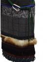 Longuette Kolor a patchwork con pelliccia e moschettoneshop online gonne donna