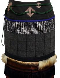 Longuette Kolor a patchwork con pelliccia e moschettone gonne donna prezzo