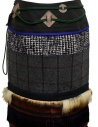 Kolor patchwork midi skirt with fur and carabiner price 19WCL-S01103 GRAY CHECK shop online