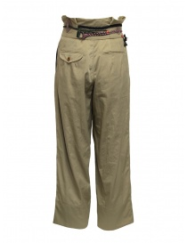 Kolor beige trousers with ribbons and laces on the waist price
