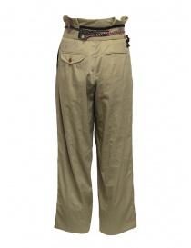 Pantaloni Kolor beige con nastri e lacci in vita prezzo