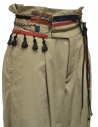 Kolor beige trousers with ribbons and laces on the waist 19WCL-P01123 SAND BEIGE buy online