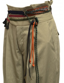 Kolor beige trousers with ribbons and laces on the waist buy online price