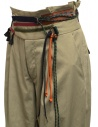 Kolor beige trousers with ribbons and laces on the waist price 19WCL-P01123 SAND BEIGE shop online