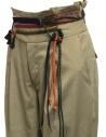 Pantaloni Kolor beige con nastri e lacci in vita prezzo 19WCL-P01123 SAND BEIGEshop online