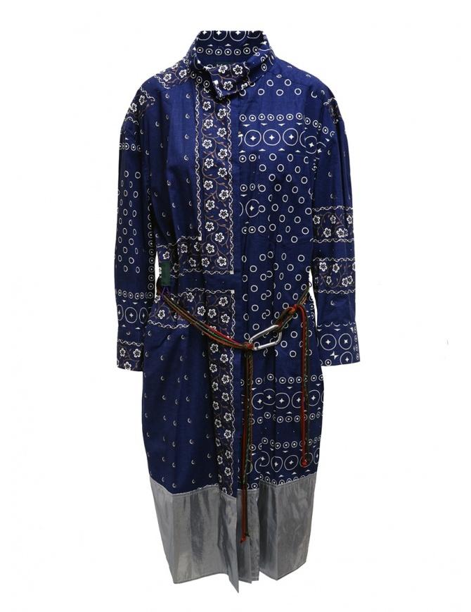 Abito Kolor blu navy a stampa con fondo argento 19WCL-O02114 NAVY BLUE abiti donna online shopping