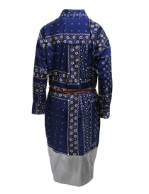 Kolor navy blue printed dress with silver bottom price