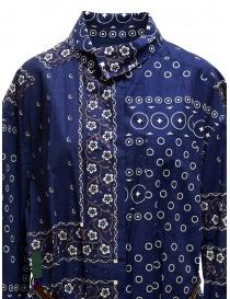 Abito Kolor blu navy a stampa con fondo argento abiti donna acquista online