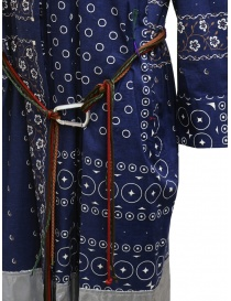 Kolor navy blue printed dress with silver bottom womens dresses price