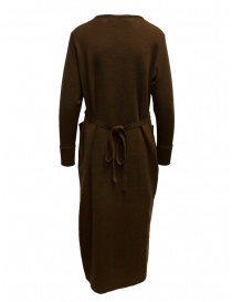 Hiromi Tsuyoshi brown and beige pleated dress
