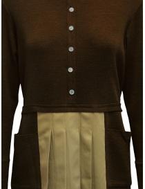 Hiromi Tsuyoshi brown and beige pleated dress price