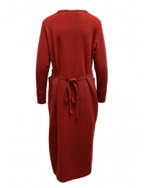 Hiromi Tsuyoshi red and beige pleated dress