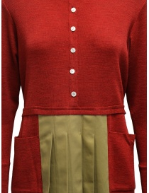 Hiromi Tsuyoshi red and beige pleated dress price
